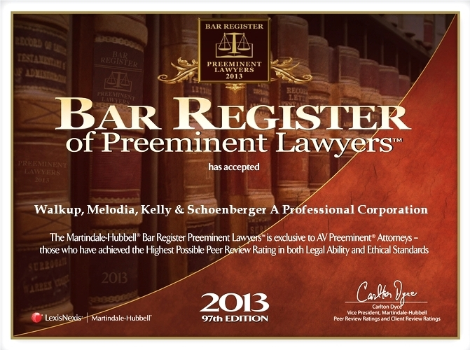 2013 Bar Register of Preemnent Lawyers