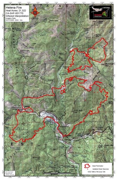 US Forest Service - Infrared Map - Helena Fork Fire