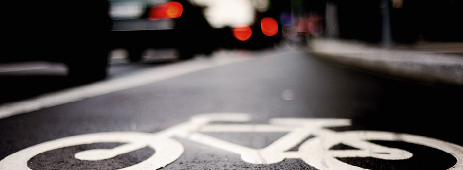 bicycle lane paint logo